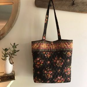 Vera Bradley Chocolat Quilted Tote Circa 2003-2005